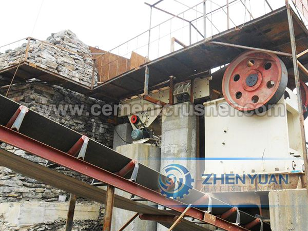 jaw crusher in plant