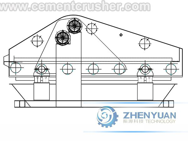 linear vibrating screen structure